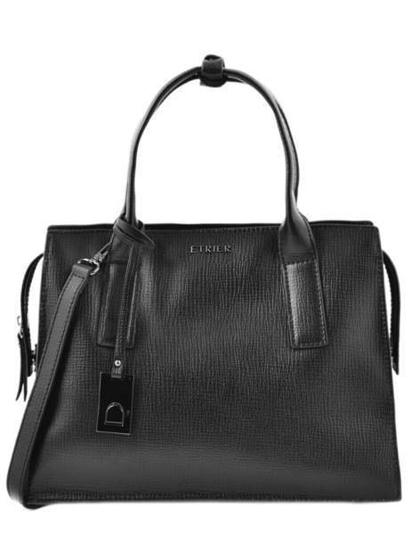 Top Handle Tess Leather Etrier Black tess ETESS02