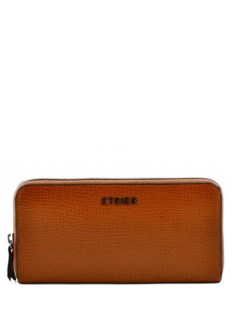Wallet Leather Etrier Brown tess ETESS91