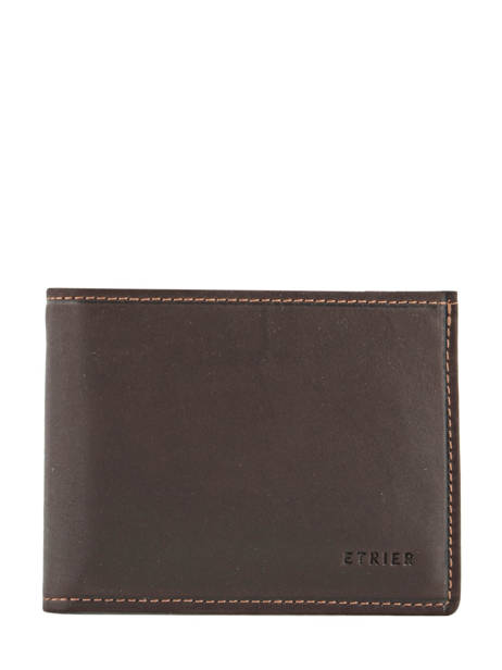 Wallet Leather Etrier Brown oil 790438