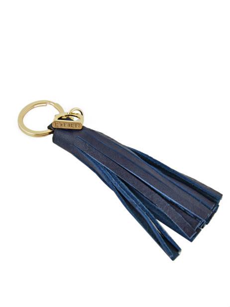 Key Holder Leather Etrier Black paris EPAR93