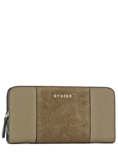 Wallet Leather Etrier Green caleche ECAL901B