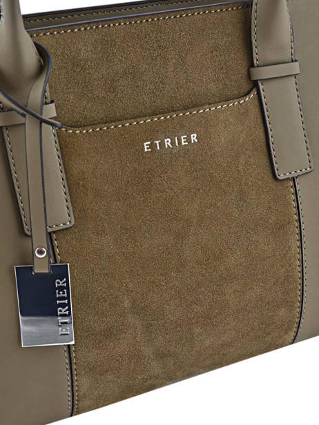 Shopper Caleche Leather Etrier Green caleche ECAL003B other view 1