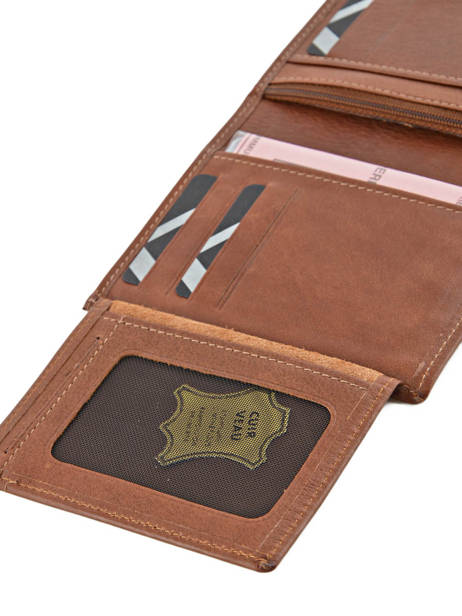 Wallet Leather Etrier Brown blanco 600142 other view 3