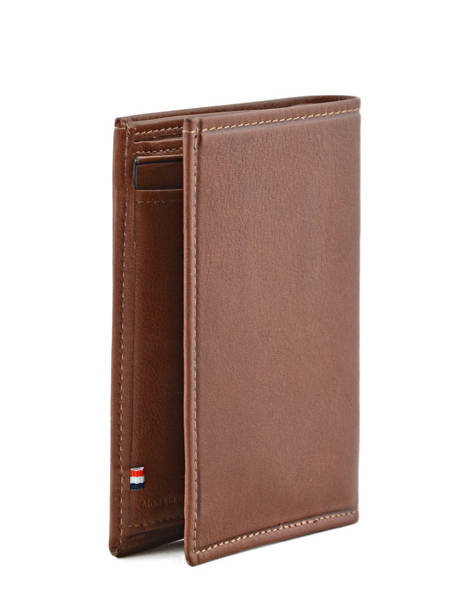 Wallet Leather Etrier Brown blanco 600142 other view 1