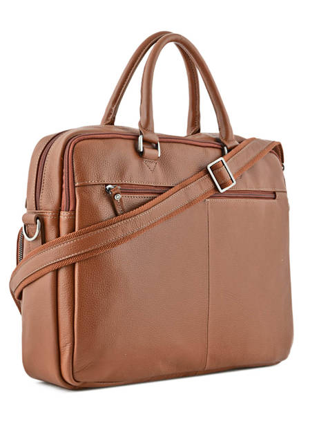 Briefcase 2 Compartments + 15'' Pc Etrier Brown flandres L11548 other view 3
