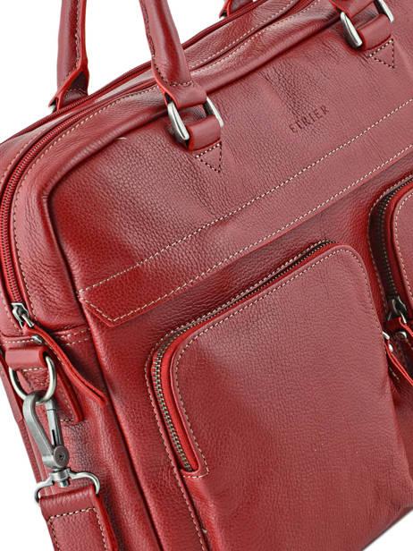Porte-documents 2 Compartiments + Pc 15'' Etrier Rouge flandres L11548 vue secondaire 1