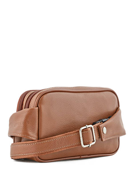 Fanny Pack 2 Compartments Etrier Brown flandres 69001 other view 2