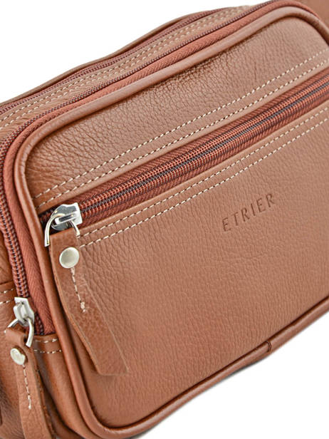 Fanny Pack 2 Compartments Etrier Brown flandres 69001 other view 1