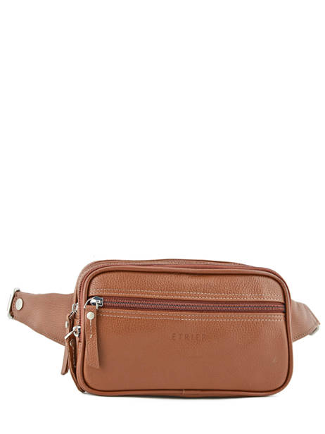 Fanny Pack 2 Compartments Etrier Brown flandres 69001