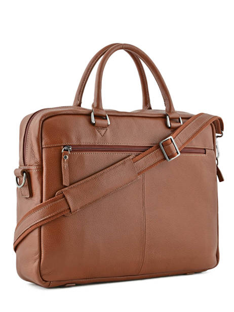 Briefcase 1 Compartment + 15'' Pc Etrier Brown flandres L11756-1 other view 3