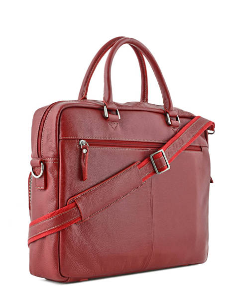 Briefcase 1 Compartment + 15'' Pc Etrier Red flandres L11756-1 other view 3