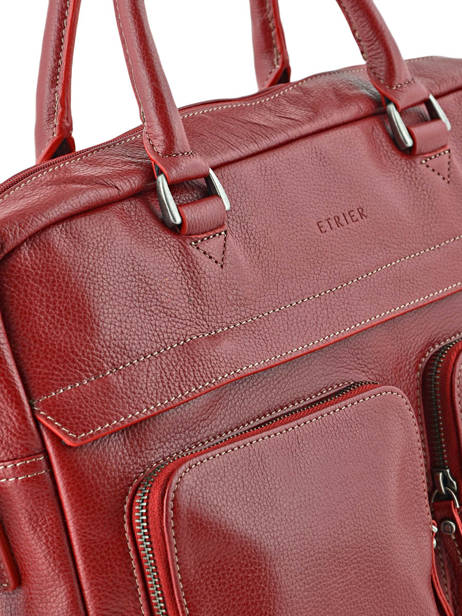 Briefcase 1 Compartment + 15'' Pc Etrier Red flandres L11756-1 other view 1