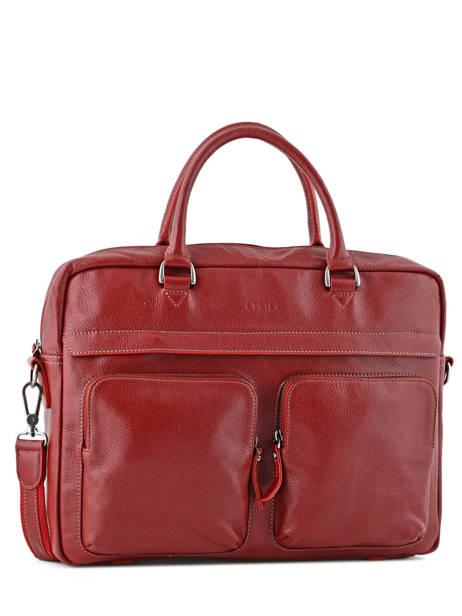 Briefcase 1 Compartment + 15'' Pc Etrier Red flandres L11756-1