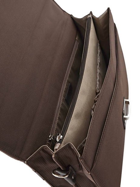 Briefcase 2 Compartments Etrier Brown ultra light LN11749 other view 4
