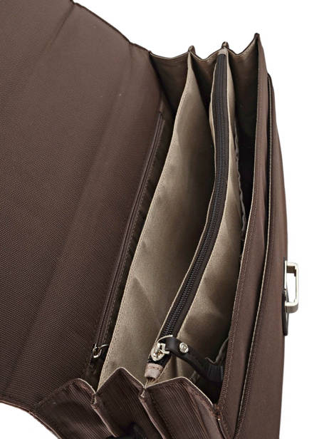 Briefcase 3 Compartments Etrier Brown ultra light LN117491 other view 4