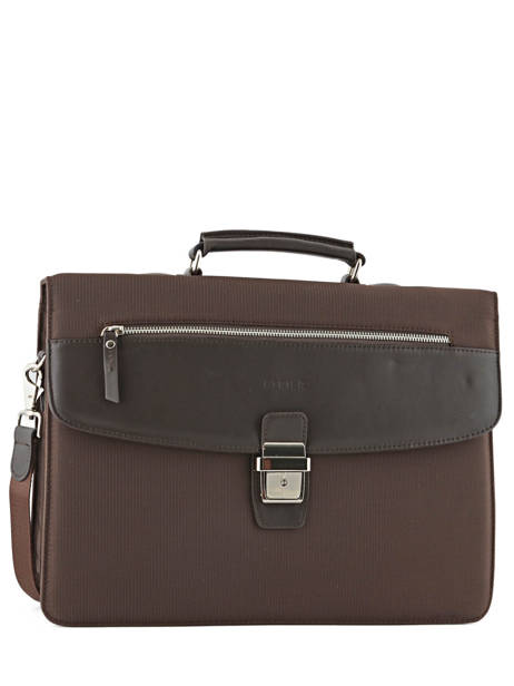 Briefcase 3 Compartments Etrier Brown ultra light LN117491