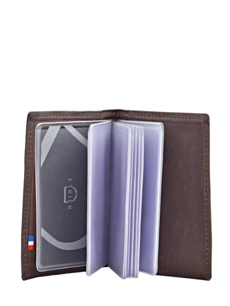 Card Holder Leather Etrier Brown blanco 600021 other view 2