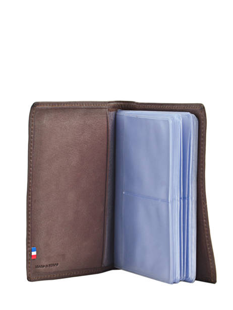 Card Holder Leather Etrier Brown blanco 600023 other view 2