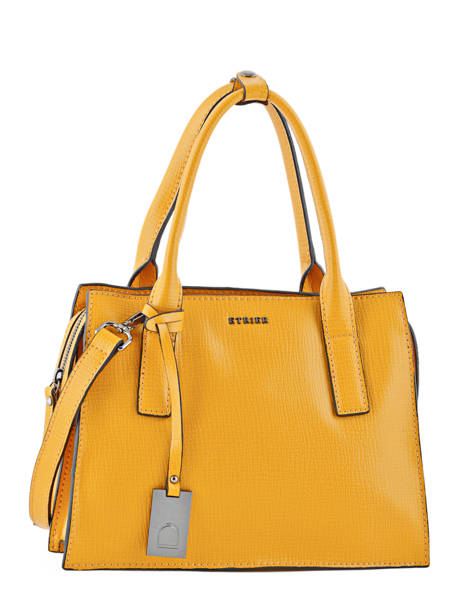 Top Handle Tess Leather Etrier Yellow tess ETESS01
