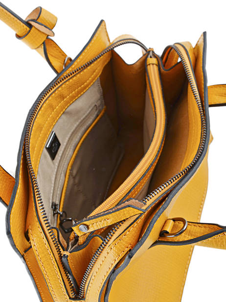 Top Handle Tess Leather Etrier Yellow tess ETESS02 other view 4