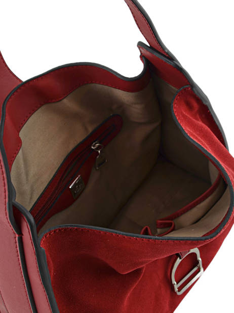 Hobo Bag Caleche Leather Etrier Red caleche ECAL006B other view 4