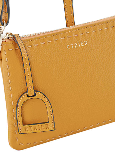 Crossbody Bag Tradition Leather Etrier Yellow tradition EHER014 other view 1