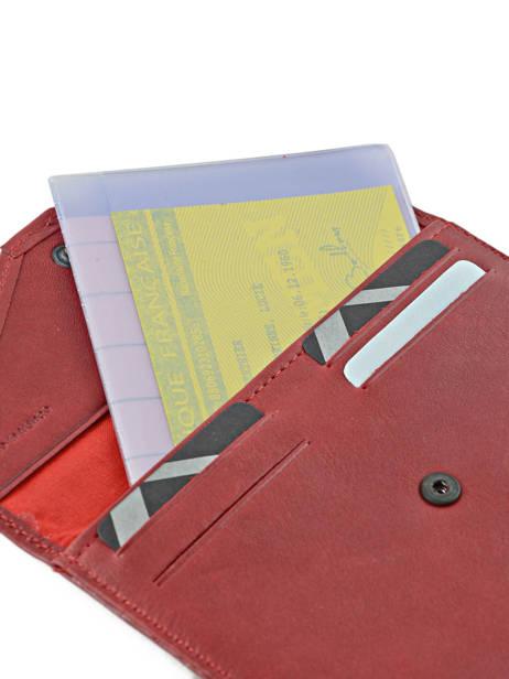 Porte-papiers Cuir Etrier Rouge blanco 600054 vue secondaire 1
