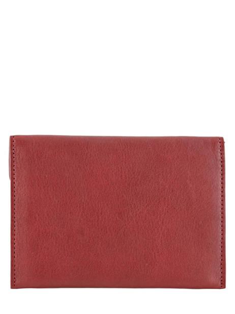 Porte-papiers Cuir Etrier Rouge blanco 600054 vue secondaire 2