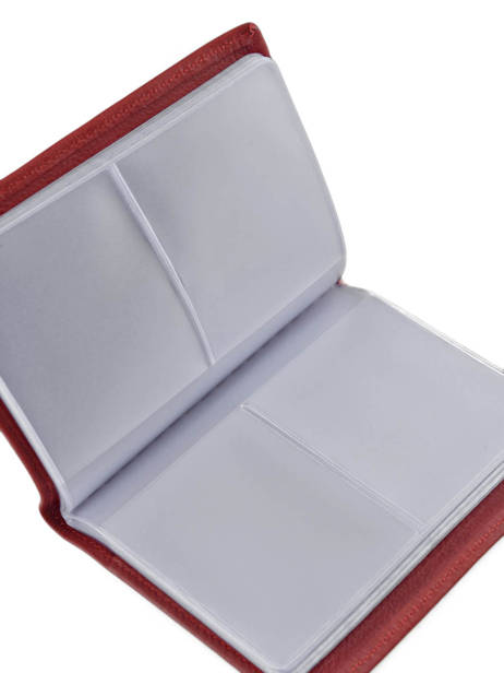 Card Holder Leather Etrier Red blanco 600023 other view 2