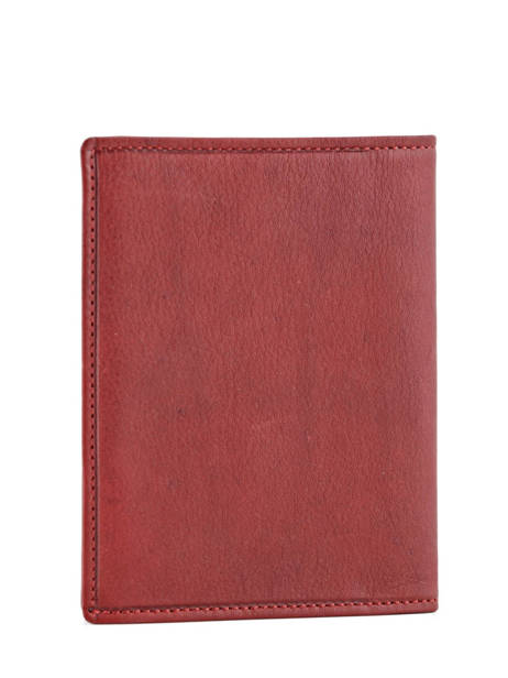 Card Holder Leather Etrier Red blanco 600023 other view 1