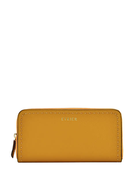 Wallet Leather Etrier Yellow tradition EHER901