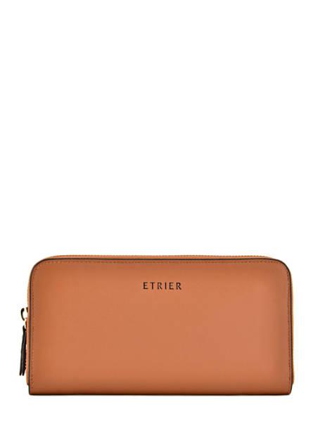 Wallet Leather Etrier Brown kyo EKY901