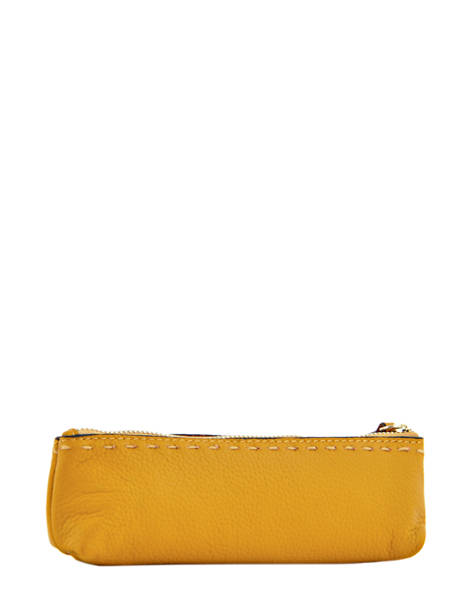 Case Leather Etrier Yellow tradition EHER903 other view 1