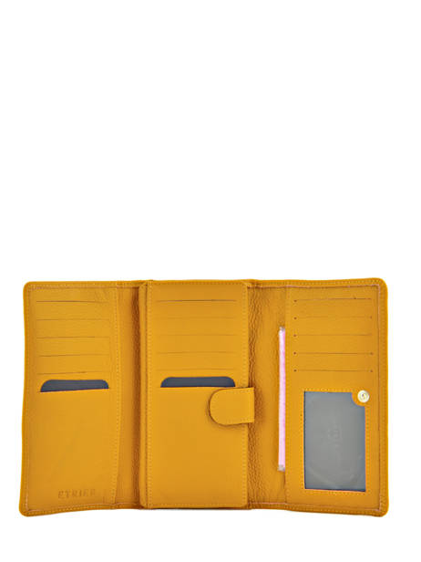 Wallet Leather Etrier Yellow tradition EHER905 other view 2