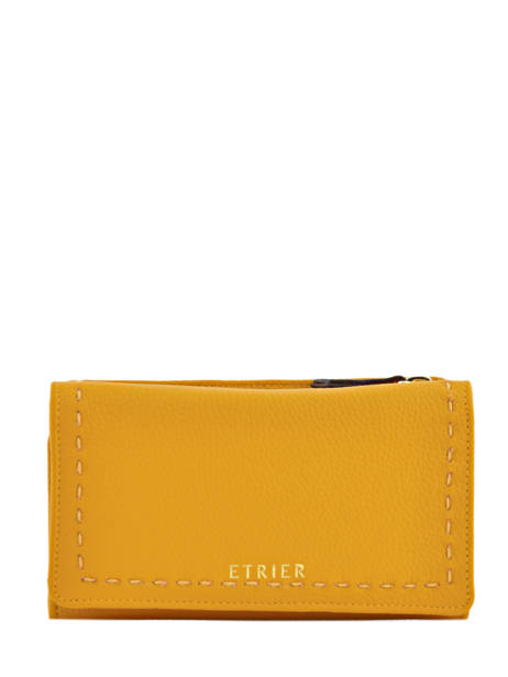 Wallet Leather Etrier Yellow tradition EHER905