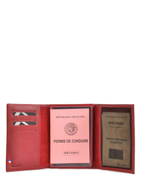 Wallet Leather Etrier Red blanco 600024 other view 1