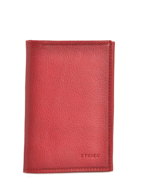 Wallet Leather Etrier Red blanco 600024