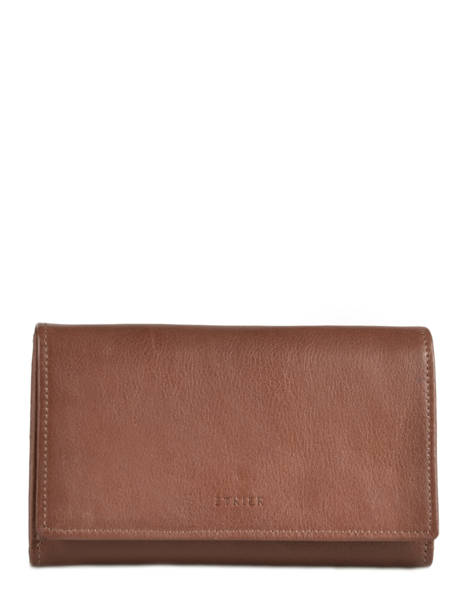 Purse Leather Etrier Brown blanco 600600