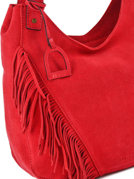 Hobo Bag Cheyenne Leather Etrier Red cheyenne ECHE03 other view 1