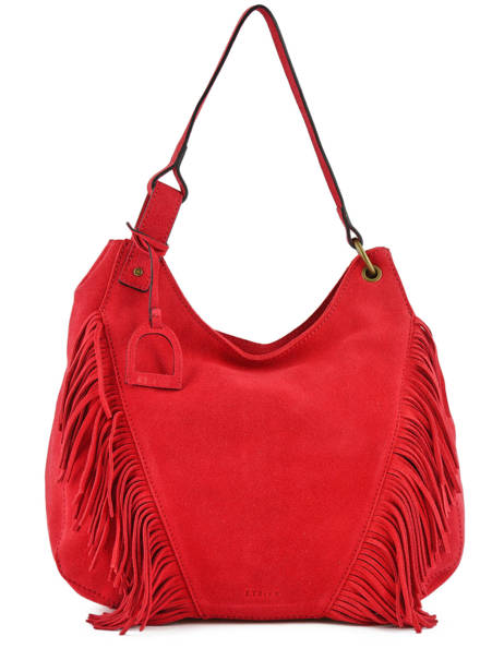 Hobo Bag Cheyenne Leather Etrier Red cheyenne ECHE03