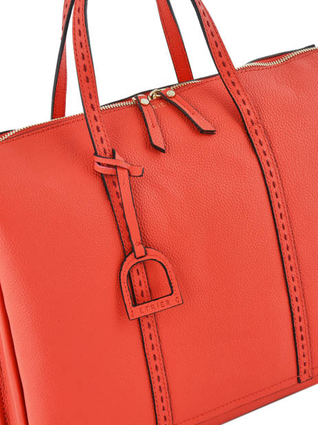 Briefcase 2 Compartments Etrier Orange tradition EHER006 other view 1