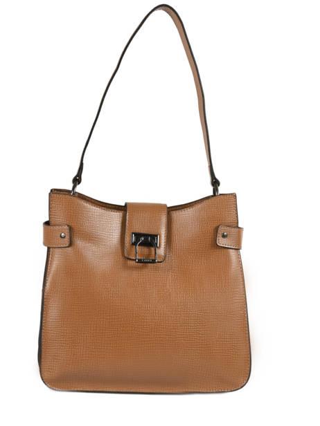 Shoulder Bag Tess Leather Etrier Brown tess ETESS08