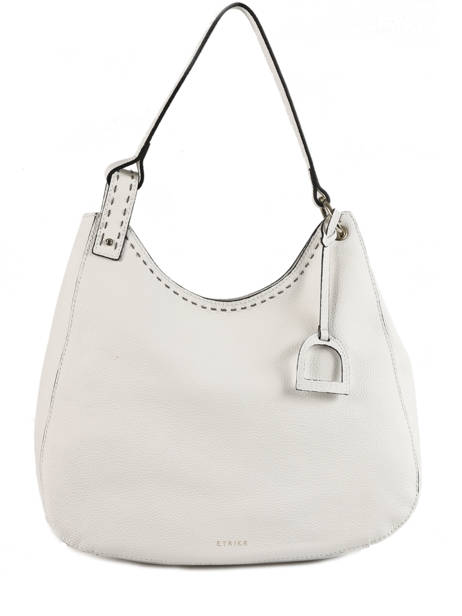 Hobo Bag Tradition Leather Etrier White tradition EHER021