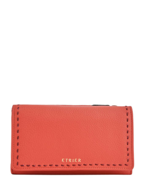 Wallet Leather Etrier Orange tradition EHER905