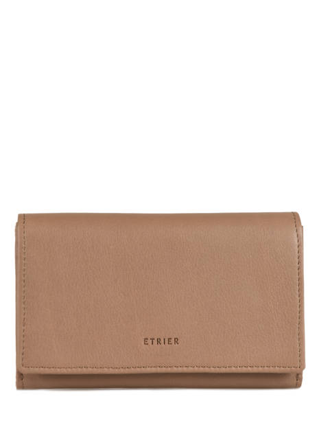Purse Leather Etrier Beige blanco 600600