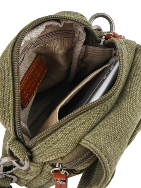 Crossbody Bag Etrier Green canvas 6562 other view 4