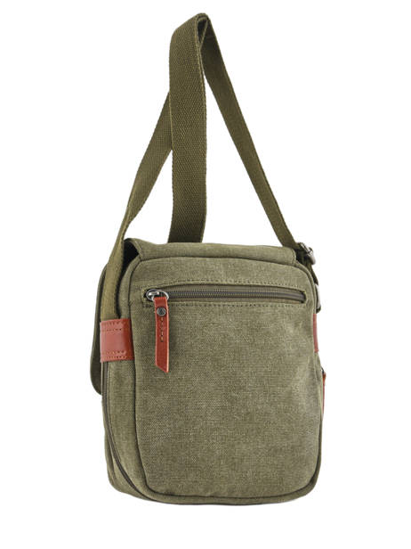 Crossbody Bag Etrier Green canvas 6585 other view 3