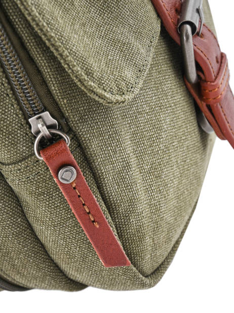 Crossbody Bag Etrier Green canvas 6585 other view 1