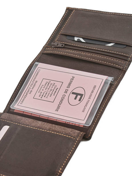 Wallet Leather Etrier Brown oil 790149 other view 2