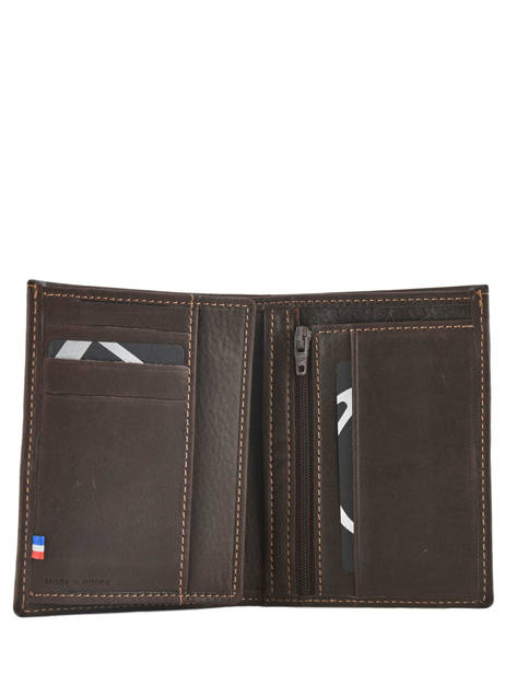 Wallet Leather Etrier Brown oil 790149 other view 3